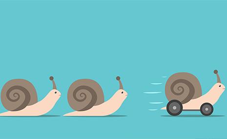 snail on wheels